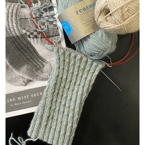How to knit socks from the top down with Jane